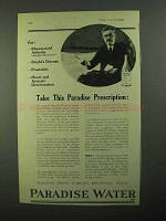 1921 Paradise Water Ad - Take This Prescription