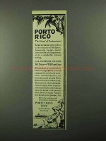 1921 Porto Rico Line Ad - Island of Enchantment