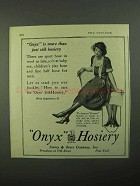 1921 Onyx Hosiery Ad - More Than Just Silk Hosiery