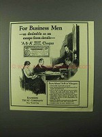 1921 Bankers Trust Company ABA Cheques Ad - Business