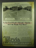 1920 Barrett Tarvia Ad - Get Good Roads Cheaply