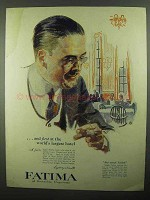 1920 Fatima Cigarettes Ad - At World's Largest Hotel