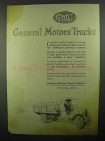 1920 GMC General Motors Trucks Ad