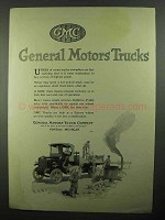 1920 GMC General Motors Trucks Ad - Road Brick Layers