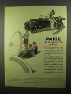 1920 Paige Motor Car Ad - The Most Beautiful in America