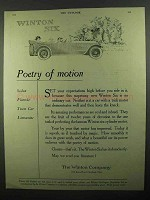 1920 Winton Six Car Ad - Poetry of Motion