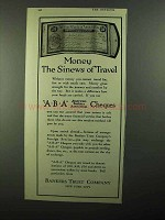 1920 Bankers Trust Company Ad - ABA Cheques