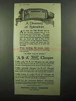 1920 Bankers Trust Company ABA Cheques Ad - Splendors