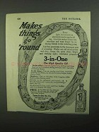 1920 3-in-One Oil Ad - Make Things Go 'Round