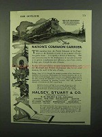 1920 Halsey, Stuart Ad - The Nation's Common Carrier