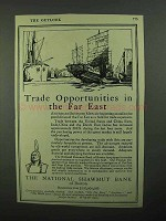 1920 The National Shawmut Bank of Boston Ad - Far East