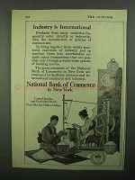 1920 National Bank of Commerce New York Ad - Industry