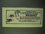 1920 Whiting-Adams Brushes Ad - From House to House