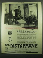 1919 Dictaphone Dictation Machine Ad - High Production