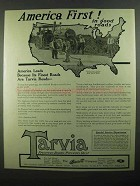 1918 Barrett Tarvia Ad - America First! In Good Roads