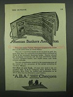 1918 A.B.A. Cheques Ad - American Bankers Association