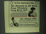 1918 Lindstrom-Smith White Cross Electric Vibrator Ad