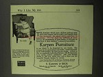 1918 Karpen Furniture No. 6160A Armchair Ad