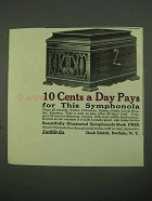 1918 Larkin Symphonola Ad - 10 Cents a Day Pays For