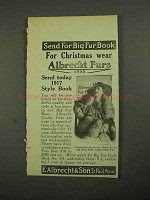 1916 Albrecht Furs Ad - For Christmas Wear