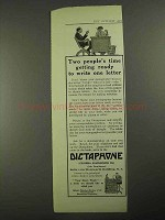 1915 Dictaphone Dicatation Machine Ad - People's Time