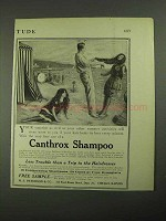 1915 Canthrox Shampoo Ad - Your Vacation