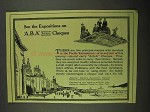 1915 A.B.A. Cheques Ad - See The Expositions