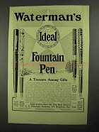 1913 Waterman's Ideal Fountain Pen Ad - No. 12, 412, 14