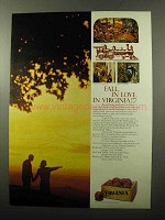 1970 Virginia Tourism Ad - Fall in Love in Virginia