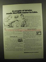 1970 Norfolk Virginia Ad - A Couple of Drinks