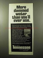 1970 Tennessee Industrial Development Ad - Dammed Water