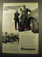 1970 Firestone Sup-R-Belt Tires Ad - We're Just Average