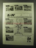 1970 L&N Railroad Ad - Site-Index Matches Needs