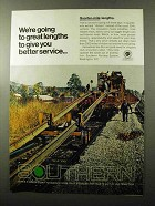 1970 Southern Railway Ad - Going to Great Lengths