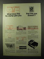 1970 Pitney-Bowes Postage Meter Ad - This Give You