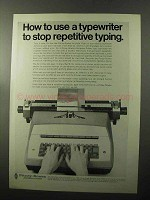 1970 Pitney-Bowes Addresser-Printer Ad - Repetitive