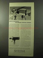 1970 Questar 7 Telescope Ad - Diaphragm Openings
