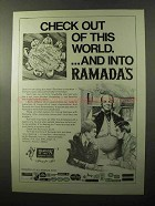 1970 Ramada Inn Ad - Check Out of This World