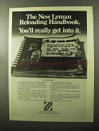 1970 Lyman Reloading Ad - You'll Get Into It