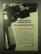 1970 High Standard Hombre Revolver Ad - Cutting Grooves