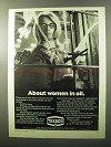 1970 Texaco Oil Ad - About Women in Oil