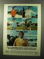 1970 Izod Classic Six-Button Cardigan Ad - Doral Course