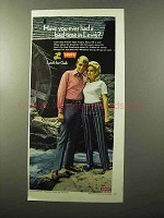 1970 Levi's Sta-Prest Flare Tracks and Pipeliners Ad