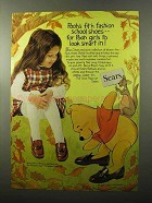 1970 Sears Winnie-the-Pooh Shoes Ad - Girls Look Smart