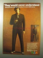 1970 h.i.s. Double-Breasted Suit Ad - Never Understand