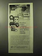 1970 Bodine fhp drives and controls Ad - Helps Copiers