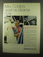 1970 Bethlehem Steel Ad - Mrs. Conte's Wash is Cleaner