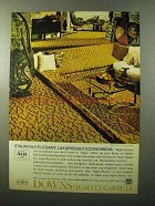 1970 Downs Carpet Ad - Right Choice in Coronation Gold