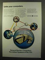 1970 General Electric Computers Ad - Unite Computers