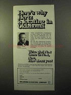 1970 Oklahoma Gas and Electric Company Ad - Hertz